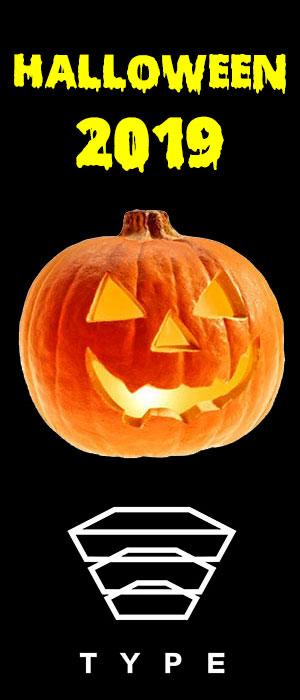 banner halloween type pozzuoli